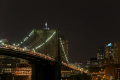 Brooklyn at Night. New York City, USA - May 20, 2014: Partial view of Brooklyn in New York Stock Photography