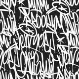 Brooklyn Nowy Jork Miami Kalifornia graffiti bezszwowy wzór Zdjęcie Stock