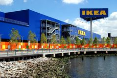 Brooklyn, NY : L'hypermarché d'IKEA Photographie stock