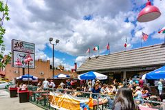 Brooklyn, NY / United States - June 15, 2018: A landscape of the famous L & B Spumoni Gardens, A landmark in Brooklyn royalty free stock photo