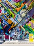 BROOKLYN, NYC, E.U., o 1º de outubro de 2013: Arte da rua em Brooklyn. Hipst Imagem de Stock