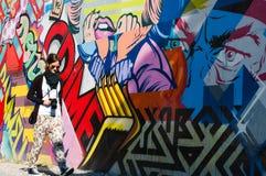 BROOKLYN, NYC, E.U., o 1º de outubro de 2013: Arte da rua em Brooklyn. Hipst Imagem de Stock Royalty Free