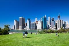 BROOKLYN, NYC - Manhattan from Brooklyn Bridge Park Royalty Free Stock Image