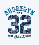 Brooklyn NYC typografi, vektorbild Royaltyfria Foton
