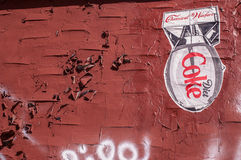 BROOKLYN, NYC, US, October 1 2013: Street art in Brooklyn. Drawing of a bomb with 'Diet Coke' and 'Chemical warfare' written on i royalty free stock image