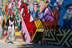 BROOKLYN, NYC, US, October 1 2013: Street art in Brooklyn. Hipst Royalty Free Stock Images