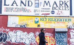 BROOKLYN, NYC, USA, le 29 septembre 2013 : Art de rue à Williamsburg Photos stock