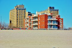 Brooklyn oceanview condos coney island ny. On Coney Island, which is one of the oceanview part of Brooklyn in New York , USA, very popular real estate are condos Stock Photography