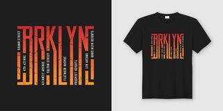 Brooklyn odzieży i koszulki elegancki projekt, typografia, druk, ilustracja wektor