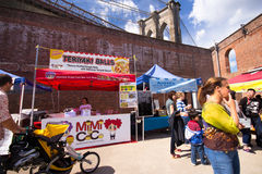 Brooklyn Outdoor Food Market Royalty Free Stock Photography