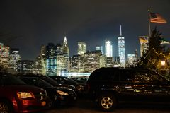 Brooklyn Parking Lot Royalty Free Stock Photography