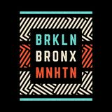 Brooklyn retro druk ilustracji