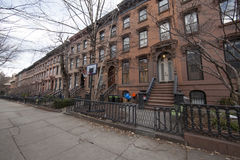 Brooklyn row houses Stock Photography