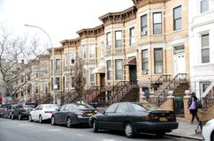 Brooklyn Row Houses Stock Photos