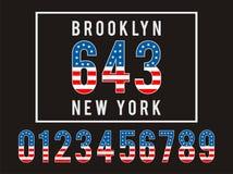 Brooklyn Set Flag America Stock Images