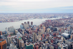 Brooklyn skyline Arial view from New York City Stock Photo