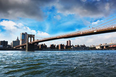 Brooklyn skyline, view from Manhattan, New York. City Royalty Free Stock Photography
