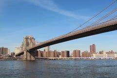 Brooklyn sobre el agua imagen de archivo libre de regalías