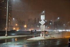 Brooklyn sotto neve fotografia stock