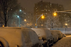 Brooklyn sous la neige Photos stock