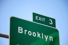 Brooklyn street sign Royalty Free Stock Photo