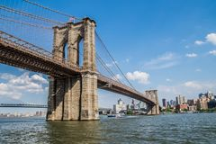 From Brooklyn to Manhattan. From Brooklyn Bridge to Manhattan Stock Photos