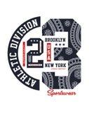 Brooklyn USATypography design, T-tröjavektorimaga Royaltyfria Bilder