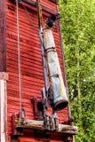 Brookmere水壶谷铁路的老水塔的喷口在BC加拿大 免版税图库摄影