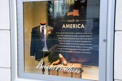 Brooks Brothers façonnent le magasin fabriqué en Amérique image libre de droits