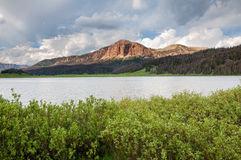 Brooks Lake. In the Absaroka Range in Wyoming Royalty Free Stock Images