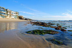 Brooks Street Beach (2) Laguna Beach, CA. Image shows Brooks Street Beach during an extreme low tide in Laguna Beach, California. Brooks Street, at normal tides Royalty Free Stock Photo