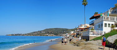 Brooks Street and Oak Street Beach in Laguna Beach, California. Stock Photography