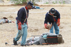 Brooksville Überfall-Wiederinkraftsetzung Stockfoto