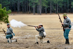 Brooksville Raid Re-enactment Stock Photography