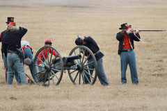 Brooksville Raid Re-enactment Stock Images