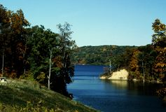 Brookville Lake Brookville Indiana. Beautiful rural scene in southern Indiana stock photography