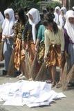 Broom действие ручек противокоррупционное школьница Стоковое Изображение