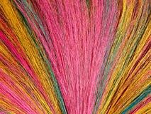 Broom. Dyed broom hairs stock image