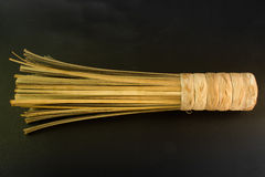 Broom. Bamboo broom for cleaning ,Hand made Royalty Free Stock Photography