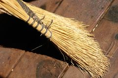 Broom royalty free stock image