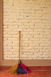 Broom against the wall Stock Image