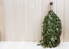 Broom birch twigs for Russian sauna. Stock Image