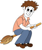 Broom-boy Stock Image
