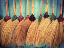 Broom. For cleaning Royalty Free Stock Image