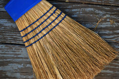 Broom on Deck Royalty Free Stock Photo