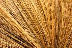 Broom of dry grass texture backgrounds Royalty Free Stock Photos