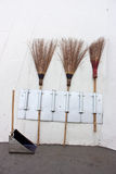 Broom and dustpan Royalty Free Stock Photography
