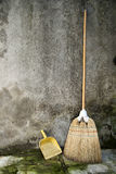 Broom and dustpan Stock Photo