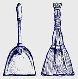 Broom and dustpan Stock Photography