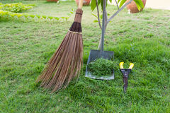 Broom and dustpan Royalty Free Stock Images